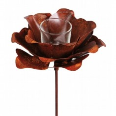 Gartenstecker Rose ArtFerro