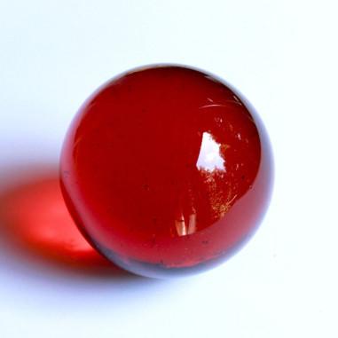 Glaskugel rot-orange