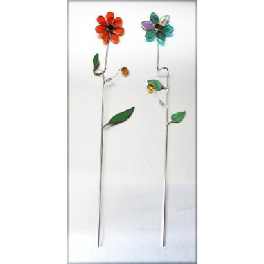 Gartenstecker Blume grün