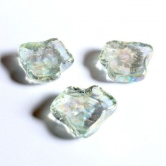 Glasnuggets Blatt klar irisierend