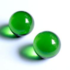 Glasmurmeln grün 35mm