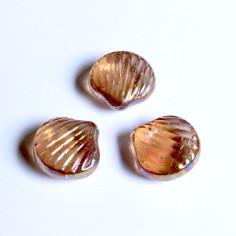Glasnuggets Muschel rosa irisierend