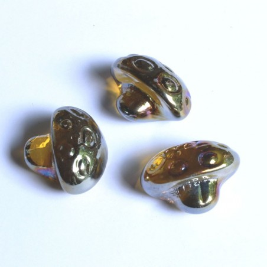 Glasnuggets Pilze amber irisierend