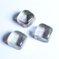 Glasnuggets Quadrat klar irisierend
