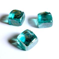 Glasnuggets Quadrat türkis isirierend