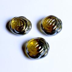 Glasnuggets Rosen amber irisierend