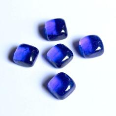 Glasnuggets Würfel im Netz blau