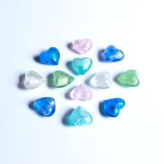 Glas-Herzen pastell