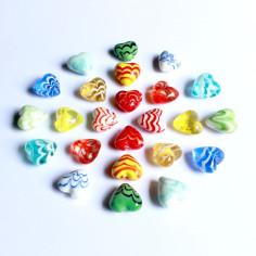 Glas-Herzen Wellen-Design