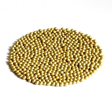 Glasperlen Metallic 3-3,5 mm Gelbgold