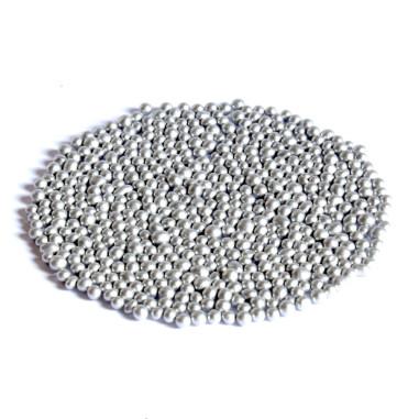 Glasperlen Metallic 3-3,5 mm Silber