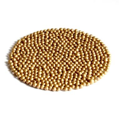 Glasperlen Metallic 3-3,5 mm Gold