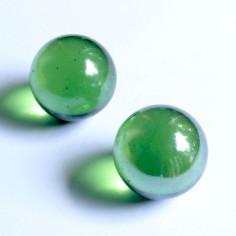Glasmurmeln hellgrün irisierend 35mm