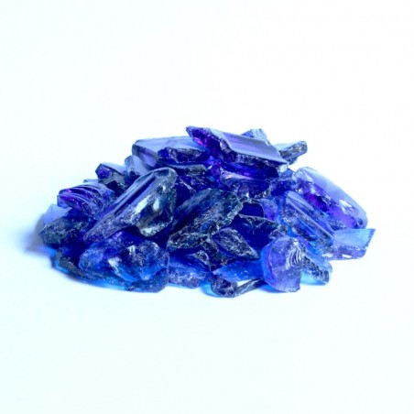 Glaskies 10-25mm dunkelblau