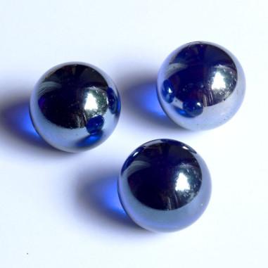 Glasmurmeln dunkelblau irisierend 25mm