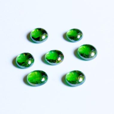 Glasnuggets grün irisierend 15mm