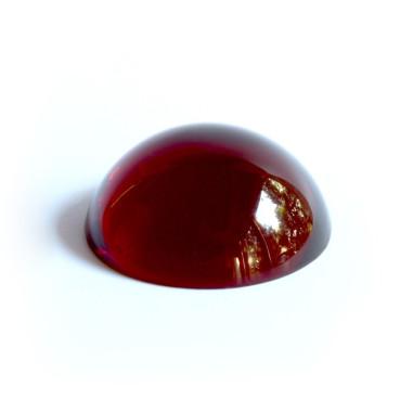Halbkugel Kristallglas rot 40mm