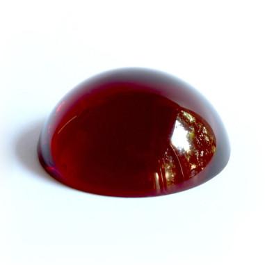 Halbkugel Kristallglas rot 60mm