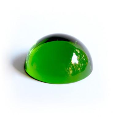 Halbkugel Kristallglas grün 40mm