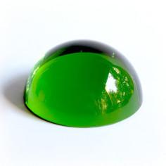 Halbkugel Kristallglas grün 60mm
