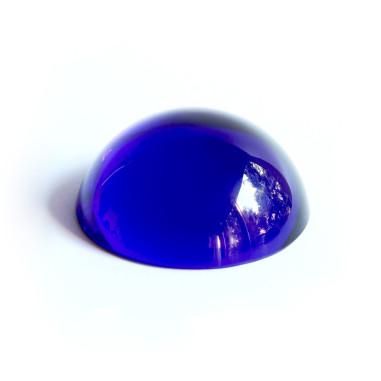 Halbkugel Kristallglas blau 40mm