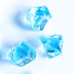 Acrylsteine hellblau 16 - 24 mm