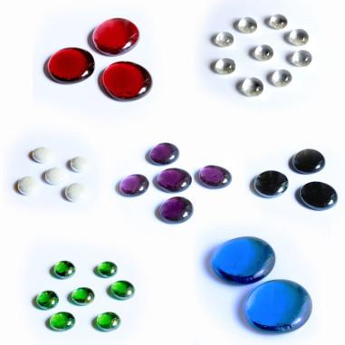 Glasnuggets Mix alle Grössen und Farben