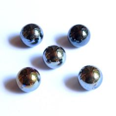 Glasmurmeln schwarz opak irisierend 16mm