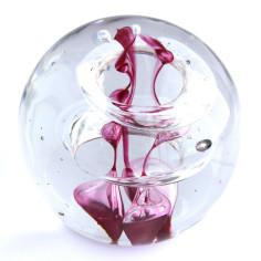 Briefbeschwerer Glas lila