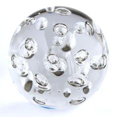 Briefbeschwerer Glas Luftblasen gross