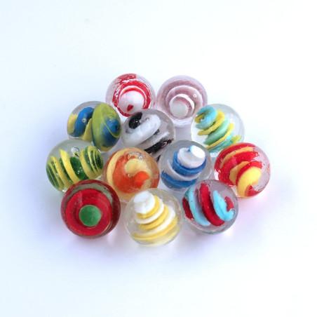 Spiralen Glasmurmeln 25mm