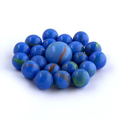 Glasmurmeln blau