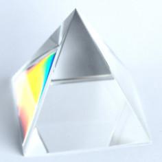 Pyramide Kristallglas klar 10cm