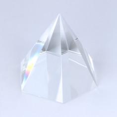 Hexagon-Pyramide Kristallglas klar 65mm