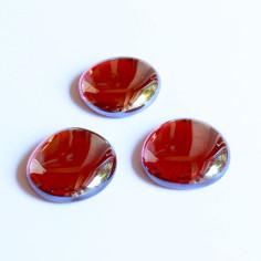 Glasnuggets rot irisierend 30mm