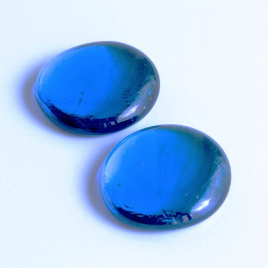 Glasnuggets dunkelblau irisierend 45mm