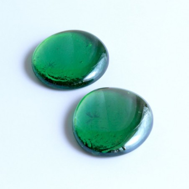 Glasnuggets grün irisierend 45mm