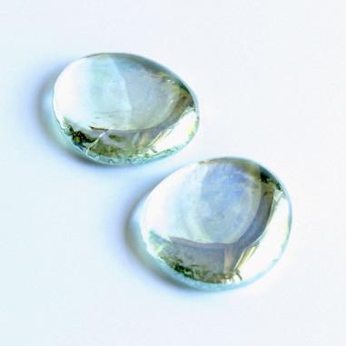 Glasnuggets klar irisierend 45mm