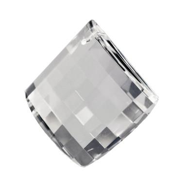 Facettierte Glaskristalle Glaskristall Mandel Quadrat bleifrei A