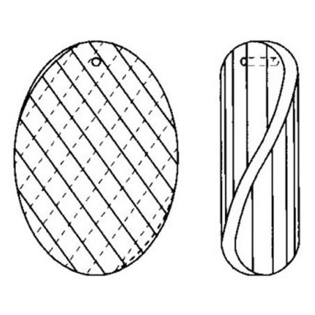 Facettierte Glaskristalle Glaskristall Mandel Twist-Matrix