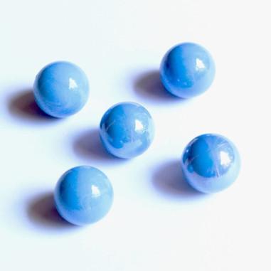 Glasmurmeln blau opak 16mm