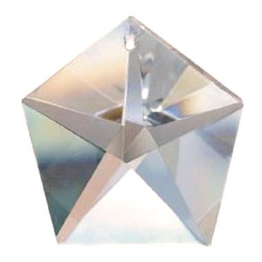 Facettierte Glaskristalle Glaskristall Pentagon bleifrei B
