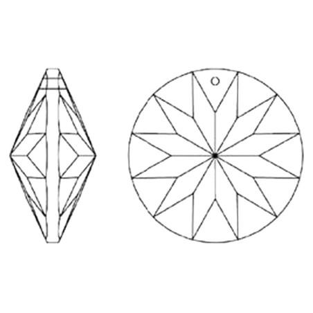 Facettierte Glaskristalle Glaskristall Rondellen Rivoli AB