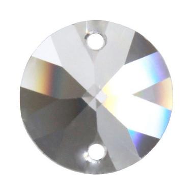 Facettierte Glaskristalle Rivoli 2-Loch 14mm B