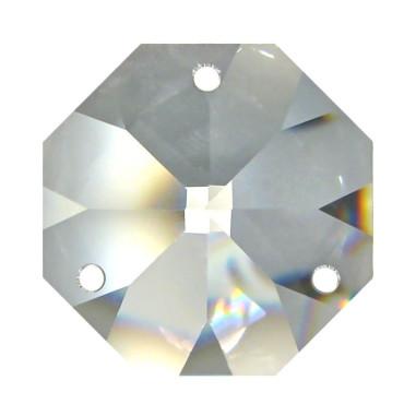 Facettierte Glaskristalle Octagon 3-Loch 16 mm B