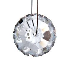 Facettierte Glaskristalle Perle 12 mm B