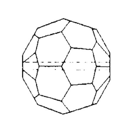 Facettierte Glaskristalle Perle 16 mm B