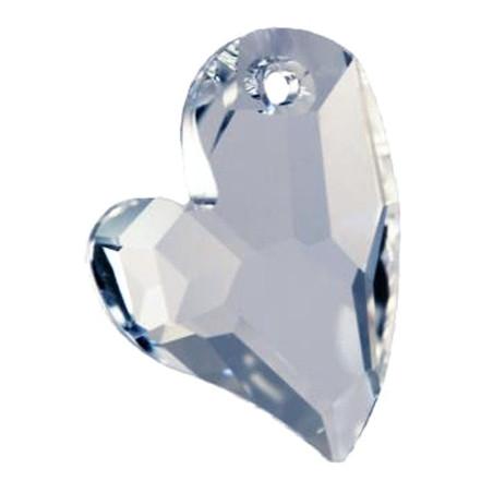 Facettierte Glaskristalle Swarovski Herz asymetrisch 27 mm