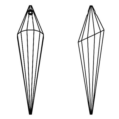 Facettierte Glaskristalle Swarovski Cone 76 mm