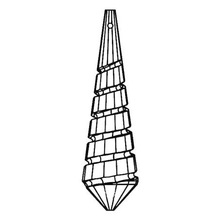 Facettierte Glaskristalle Swarovski Spin Drop 76 mm